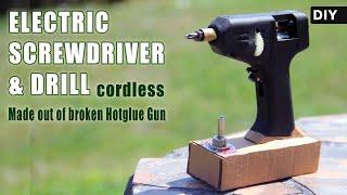 Convert your broken hot glue gun into a Practical ELECTRIC SCREWDRIVER / Drill | DIY idea
