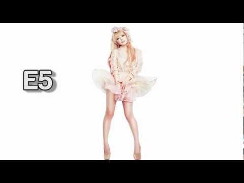 (HD) Ayumi Hamasaki Vocal Range - Studio: C#3-F#5 (1995-2012)