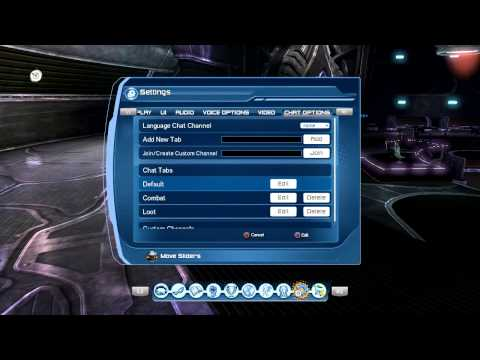 DCUO CHANGE CHAT SETTINGS