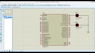 blinking led using atmega32 microcontroller and atmel studio