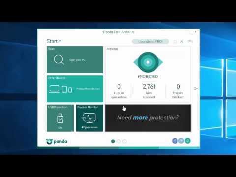 PANDA 2016 Free Antivirus - Install And Settings