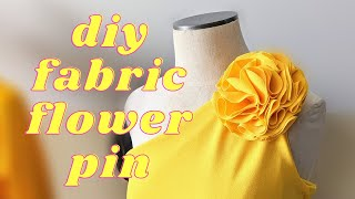 Easy DIY fabric fl๐wer Rosette Pin - No Sew Technique