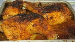 Juicy Whole Chicken Legs Cooked in the Toaster Oven-Easy Recipe