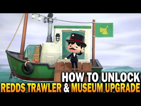 How To Unlock Redds Treasure Trawler & Museum Art Upgrade! Animal Crossing New Horizons 1.2.0 Update