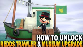 How To Unlock Redds Treasure Trawler & Museum Art Upgrade! Animal Crossing New Horizons 1.2.0 Update