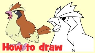 ✍ How to draw Pidgey from Pokemon Go step by step ❤