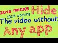 how to hide videos on android without app ||without dot method||safe gallary||hide apps and files