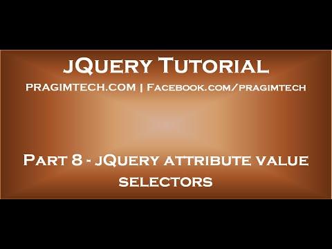 JQuery Attribute Value Selector