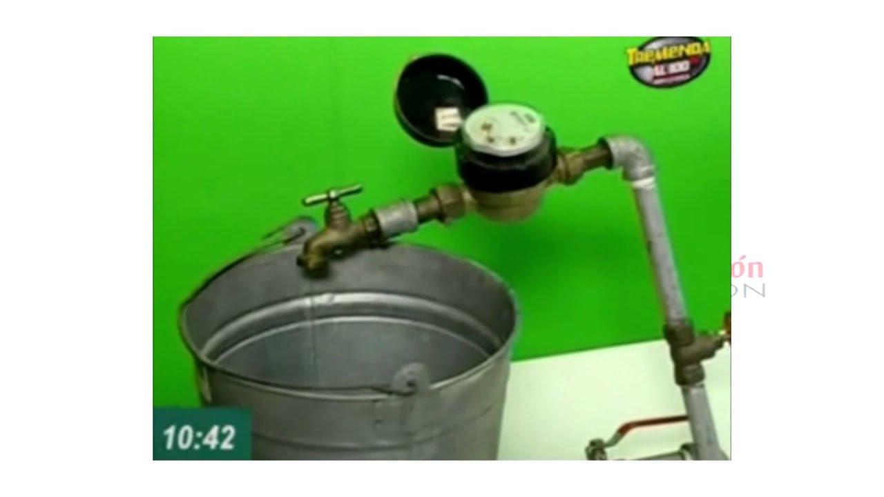 Reducir consumo de agua usando tu medidor youtube - Medidor de agua ...