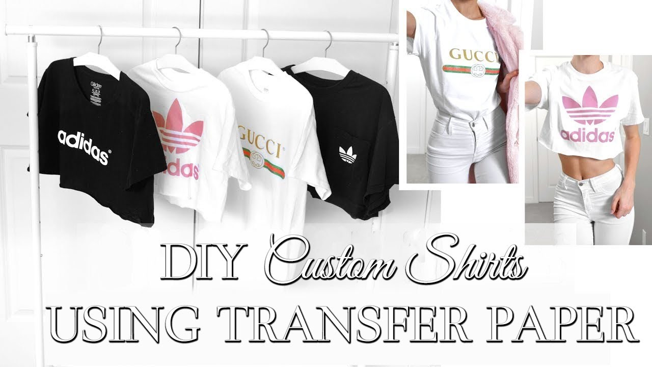6fd4ec2df1b3 EASY DIY CUSTOM T SHIRTS // Whatever Design You Want // HOW TO USE TRANSFER  PAPER //