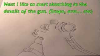 How To Draw First Person Guns