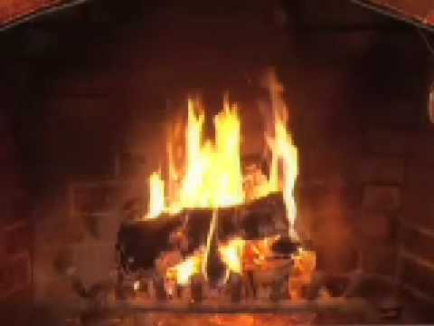 Yule Log with Christmas Music - YouTube