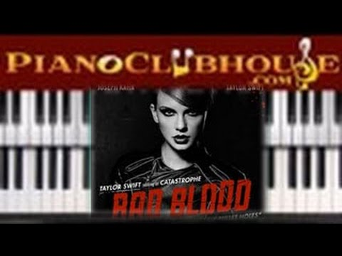 🎹   BAD BLOOD - Taylor Swift (easy piano tutorial lesson)