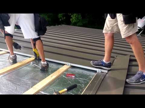 Standing seam roof installation