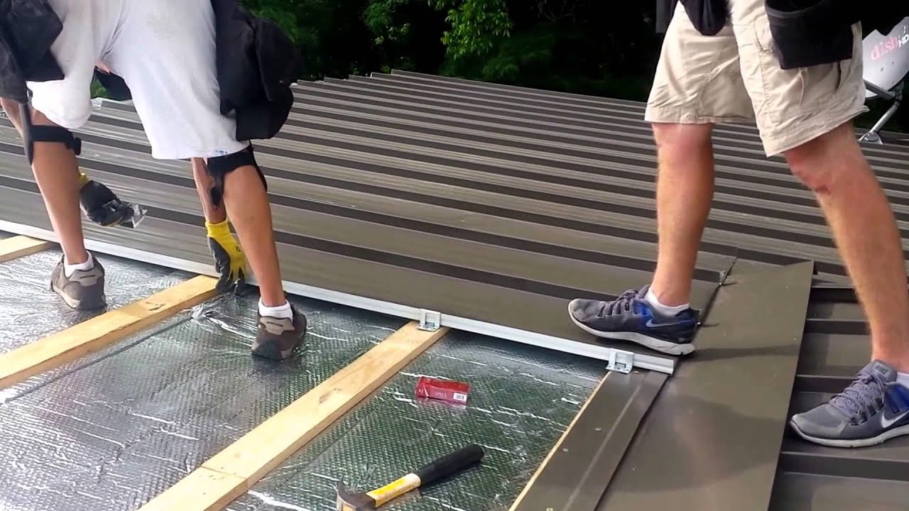 Standing Seam Roof Installation   YouTube