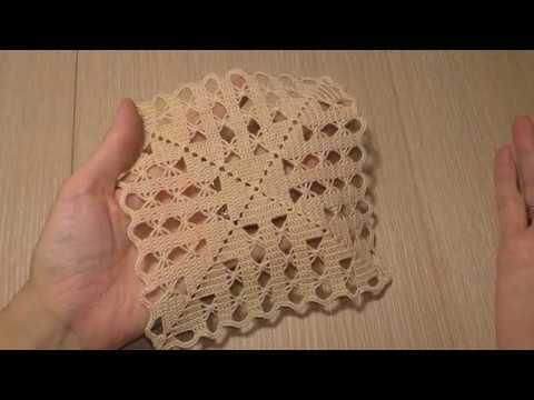 Вязание скатерти и салфетки крючком