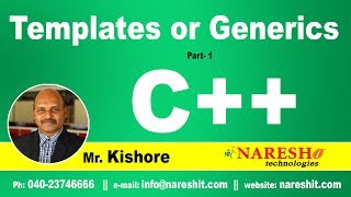 Templates or Generics Part 1 | C ++ Tutorial | Mr. Kishore
