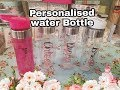 How to make Personalised Water Bottles - can be done Love Island style !