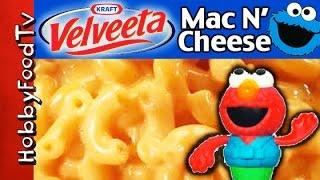Mac N&#39 Cheese Recipe! Elmo+  Cookie Monster Help HobbyMema by HobbyKidsTV
