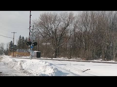 Live Amtrak w 2 Trains Following In The Snow Live