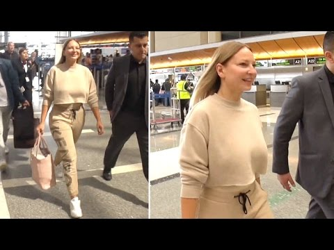 Sia Flaunts Curves In Fitted Kenzo Sweats While Catching Flight At LAX Bound For Dubai