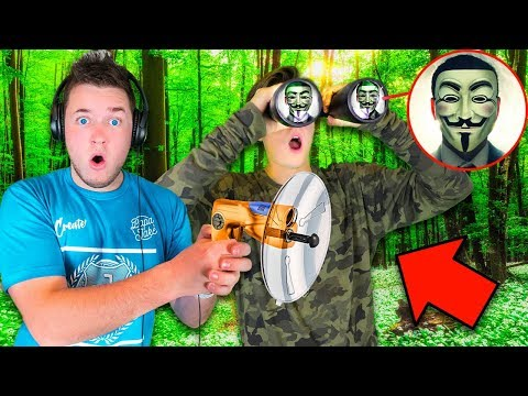 CAPTURING THE GAME MASTER! 24 Hour Challenge In The Woods WITH TOP SECRET SPY GADGETS in REAL LIFE