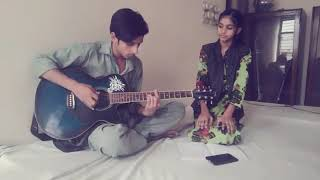 The first song of anshika.....mile ho tum humko only on guitar