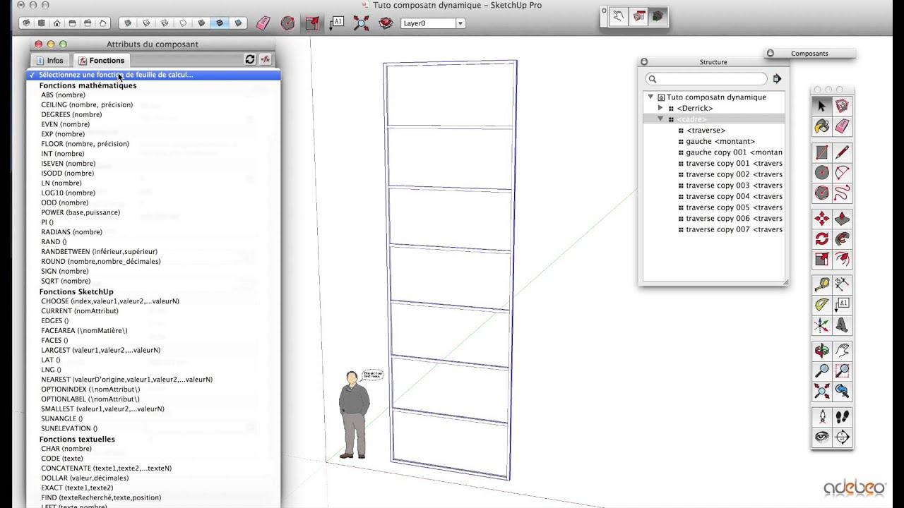 composant dynamique sketchup