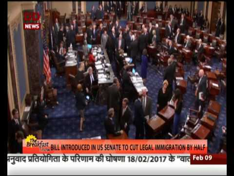 Bill introduced in US senate to cut legal immigration by half