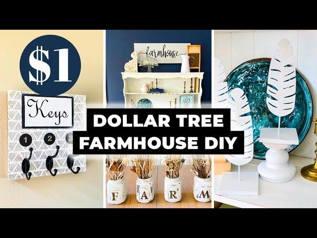 Dollar Tree DIY Farmhouse Decor ⭐ Home Decor on a budget