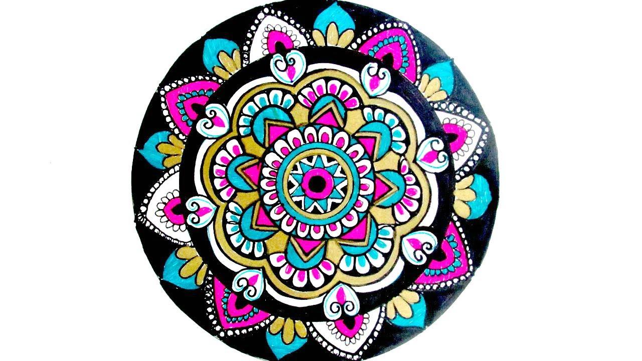 How To Draw Mandala Mandala Week Day 2 Tutorial Youtube