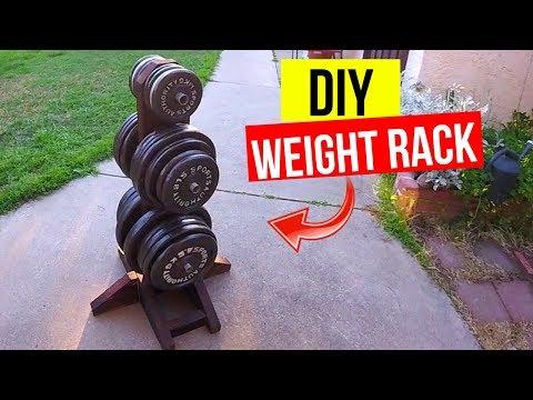 DIY Weight Plate Rack. Cheap & Easy! -Jonny DIY