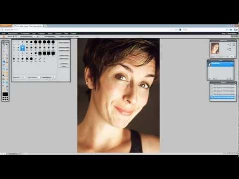 Pixlr:Онлайн-фотошоп:Быстрая ретушь портрета