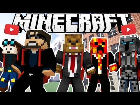 YOUTUBER HIGH SCHOOL MODDED HIDE AND SEEK - Minecraft Modded MInigame