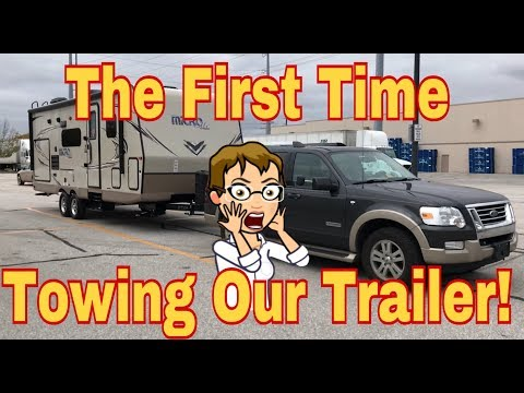FIRST TIME TOWING THE TRAILER! TOWING A TRAILER WITH AN SUV!!!