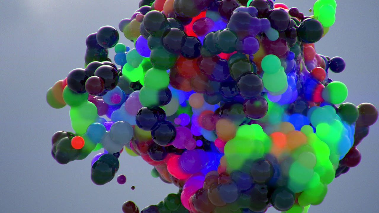 C4D/ Redshift 3D / velocity driven brightness and colors / x-particles 2018