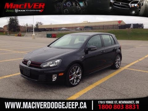 2013 volkswagen golf gti wolfsburg edition newmarket ontario maciver dodge jeep youtube. Black Bedroom Furniture Sets. Home Design Ideas