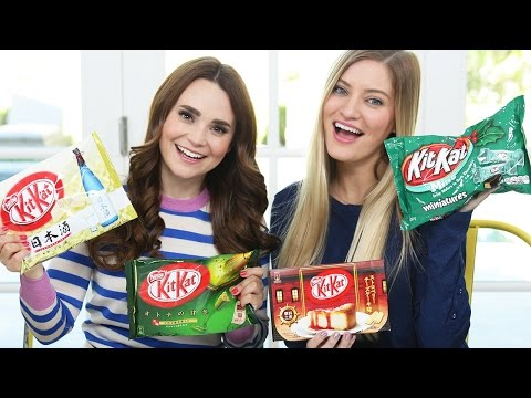 TRYING FUN KIT KAT FLAVORS w/ iJustine!