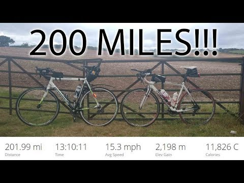 Cycling 200 miles (325km) in one day Double Century!!