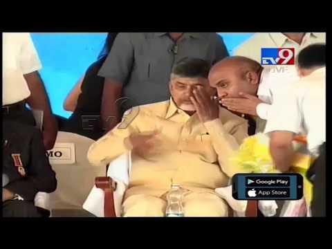 CM Chandrababu lays Foundation Stone For BRS Health city in Amaravathi - TV9