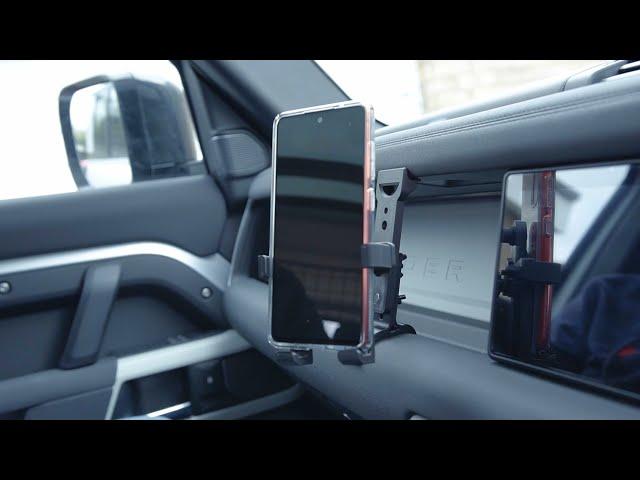 Defender L663 Front Drivers Phone Mount Kit