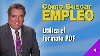Cómo Buscar Empleo 09 - Utiliza El Formato PDF