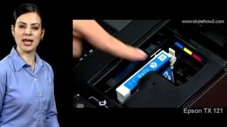 Epson Printer TX121 - How to Install Ink Cartridges in the Printer