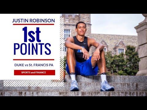 NBA Star David Robinson Son, Justin Robinson Scores his First BASKET and MAJOR BLOCK!!!