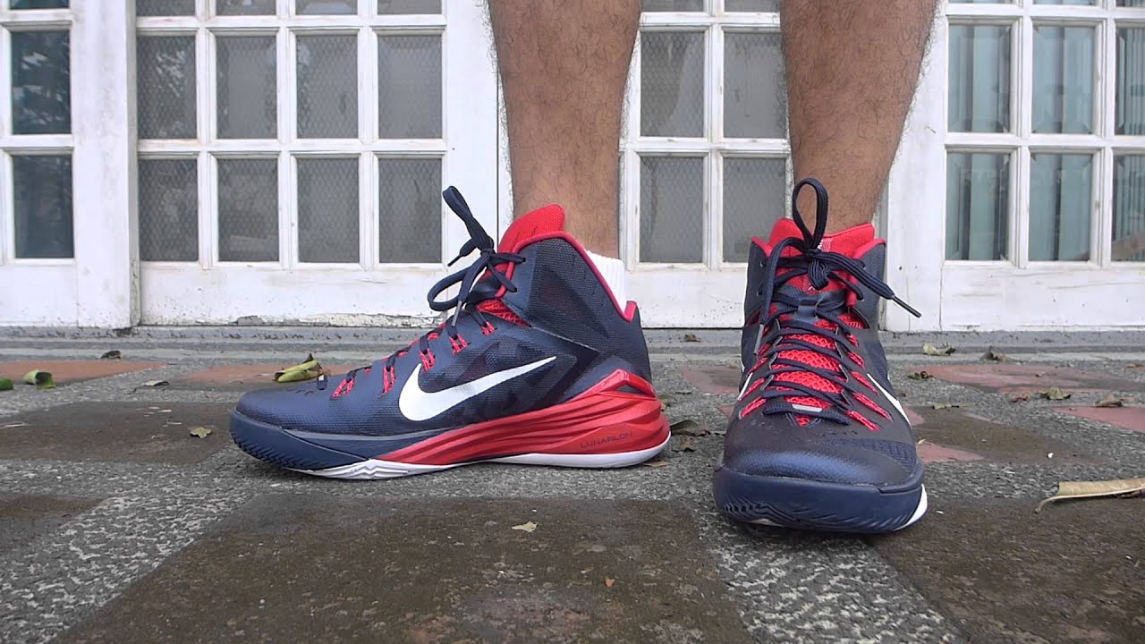 c88a1a4bef0c ... germany nike hyperdunk 2014 blue white red on feet f4ead e53c9