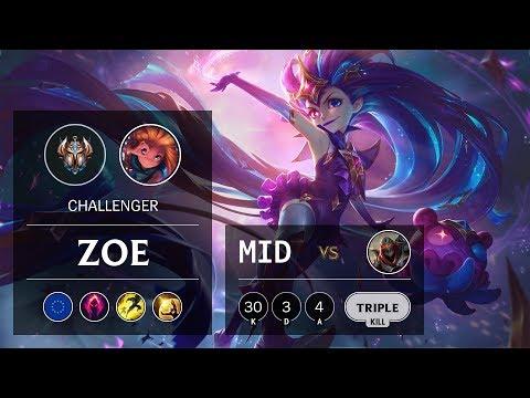 Zoe Mid Vs Zed - EUW Challenger Patch 9.23