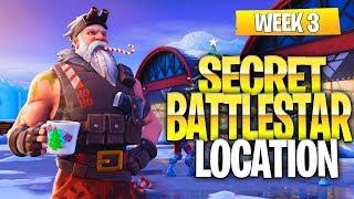 "Fortnite Battle Royale Season 7 Week 3 Secret Battlestar Location (""Snowfall"" Challenges)"