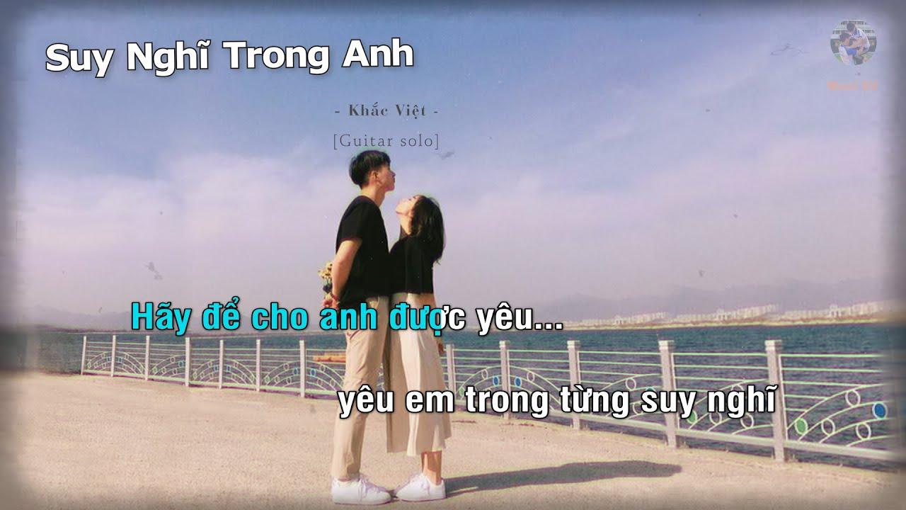 Suy Nghĩ Trong Anh - Khắc Việt (Guitar beat solo karaoke) | Muối SV