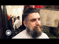 Long Hair Viking Cut at Barbershop | Cut and Grind