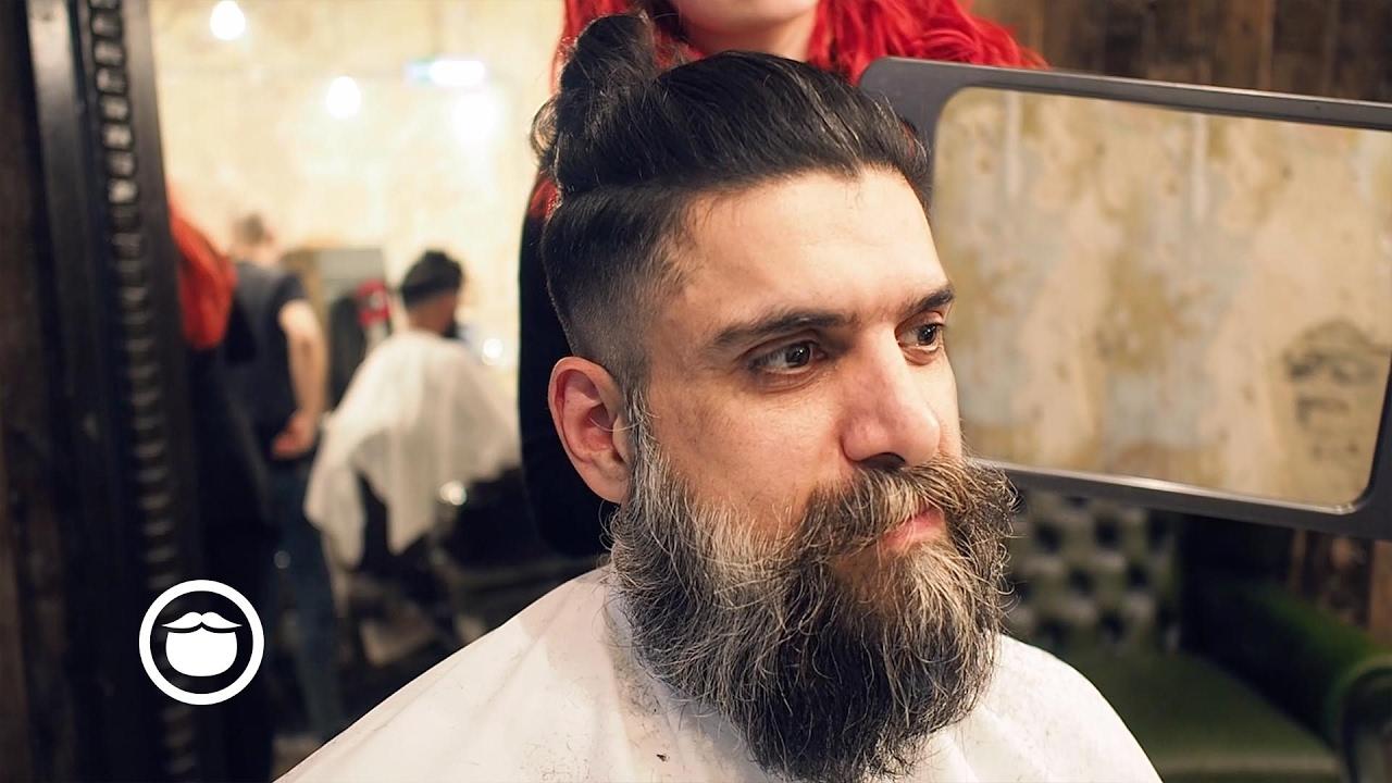 Long Hair Viking Cut At Barbershop Cut And Grind Youtube